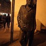 Памятник Сергею Довлатову на ул. Рубинштейна д.23