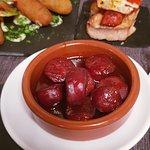 Chorizo in Rotweinsoße