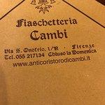 Foto de All'Antico Ristoro di Cambi