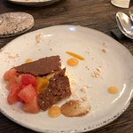 Grapefruit with Panna cotta