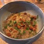 Ravioles de canard, crème d'oignons