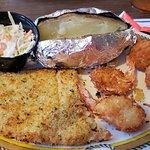 Horseradish crusted fish.