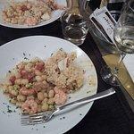 Gnocchetti gamberi pomodoro e risotto alla marinara