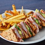 Club sandwich with our fresh hand cut french fries