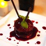 Strawberry Chocolate Fondant Dessert