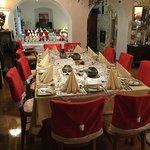 Tisch für eine Weihnachtsfeier