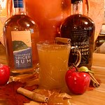 On a cold day a hot cider with either Latitudes Straight Bourbon Whiskey or Whaleback Spriced Rum is perfect!