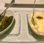 Asparagus and truffle mashed potato were both good!
