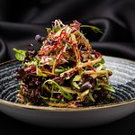 LOFT's Duck Salad with pomegranate, apple, celery and pine seeds