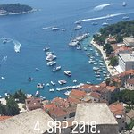 Beautiful view from Fortica (fortress) in Hvar!