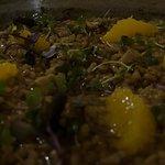 arroz de pato con cerveza negra naranja y foie