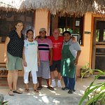 Marcia, Dori, Yuni, a happy guest and Armando posing for a farewell picture. Thank you guys, keep up the good work.