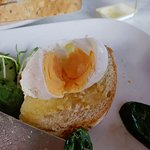 This is their take on a 'poached' egg