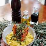 The best of two worlds come together: Phu Quoc prawns and saffron risotto of Lombardy region
