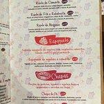 Cardápio Risotos, Espaguetes e Chapas.