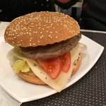 Hamburger (in special deal with fries and a drink)