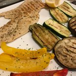 Grilled chicken and grilled vegetables