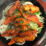 Delicious Chicken Peri Peri Sizzler- a grilled healthly dish made with lean chicken breast