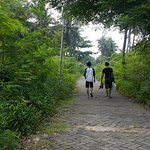 Walking around the quieter Tidung Kecil (?).
