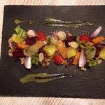 Λαχανικά βινεγκρέτ με χταπόδι - Vegetables vinaigrette with octopus
