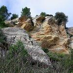 Formazioni rocciose lungo il sentiero del ritorno.