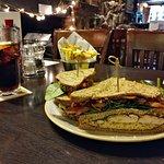Chicken Club Sandwich Lunch - The Lamb Axbridge (11/Dec/18).