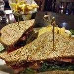 Chicken Club Sandwich - The Lamb Axbridge (11/Dec/18).