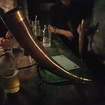 beer from a horn
