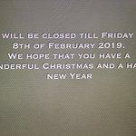 Winter Hours for Logierait Inn 2018 to 2019