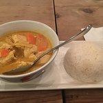 Gang Kahri Gai (yellow curry with chicken / potato, carrot, onion, turmeric coconut milk broth)