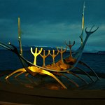 """The Sun Voyager"" A ten minute walk from hotel."