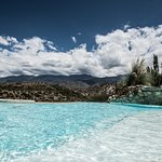 our infinity pool looking at the Andes mountains
