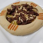 Hummus with meat, one of our most ordered dishes.