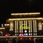 Aussenfassade - Weihnachtszeit  Hauptbahnhof  Leipzig:)