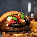 Grilled Portobello Burger available at Bear Springs Bistro & Lounge.