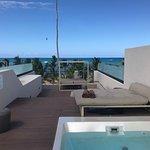 Honeymoon suit rooftop