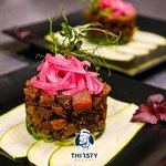 Not in mood for steak? Try our Poke Aku, delicious tuna with cucumber, seaweed and teriyaki sauce.