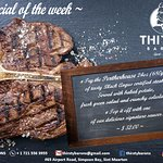 Premium steaks at Thirsty Barons.