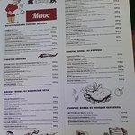страница меню ресторана