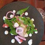 Salad with smoked fish