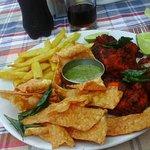 sea food at varkala beach
