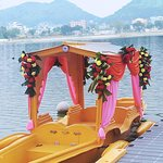 This is a special Romantic Date Boat exclusively for couple photo shoots available exclusively at Vijayawada Bhavani Island by WaterSports Simple