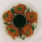 Onion Bhaji with tamarind souse