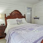 Lavender room with queen bed, private bathroom on the 2nd floor of the B&B.