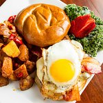 A shot of one of our hearty brunch plates!