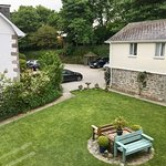 View from the master bedroom of The Dairy, one of our two bedroom cottages at Higher Trewithen Holiday Cottages.