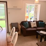 Lounge in The Dairy, one of our two bedroom cottages at Higher Trewithen Holiday Cottages. Dogs welcome.
