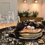 Blueberry compote stack