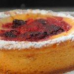 Tartaleta de frambuesa con crema pastelera