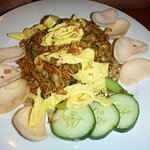 Mie Goreng, attractively plated and very tasty!